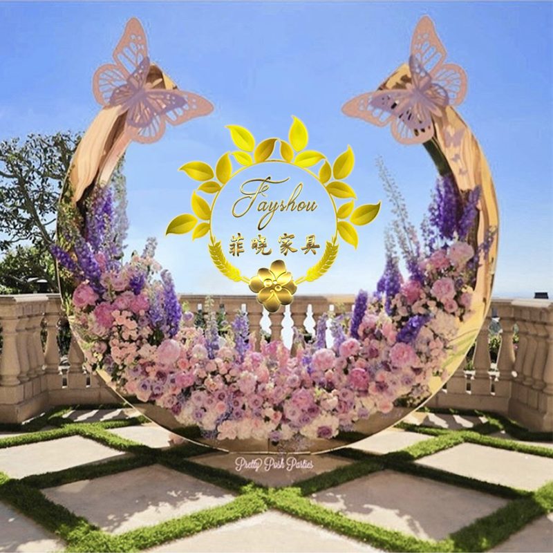 Luxury New design christmas wedding backdrop with butterfly