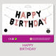 Balloon Birthday Balloons Hot Selling Party Decoration Letter Balloon 16 Inch Happy Birthday Balloons Set With Individual Card Packs