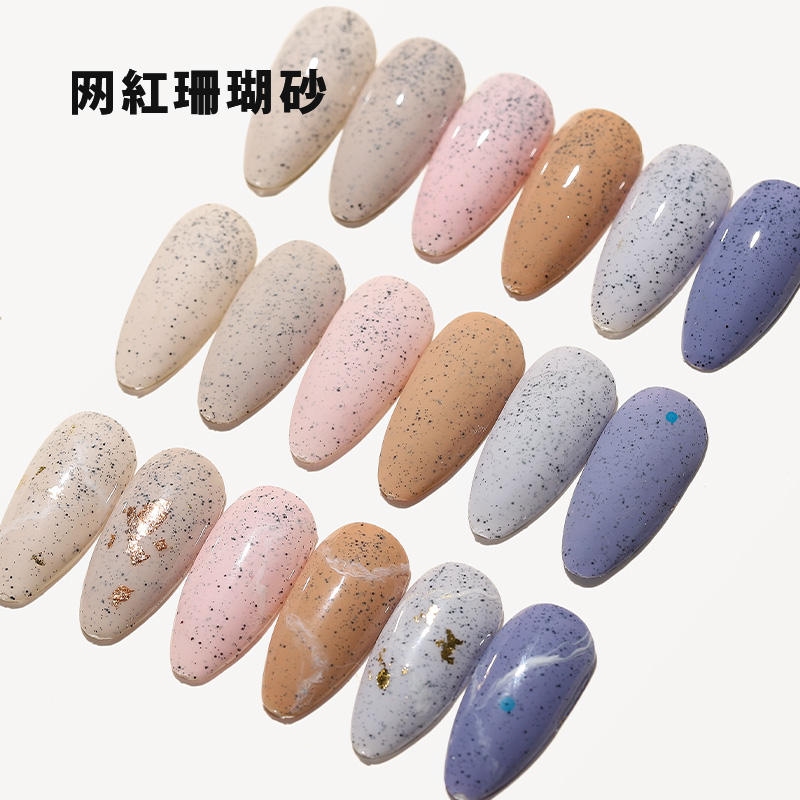 ECO Friendly Gel Nail Art High Quality Factory UV Granulated Sugar Gel Polish Nail Beauty