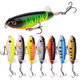 105mm 17g Topwater Lures Freshwater Saltwater Lures for Carp Bass Pike Whopper Plopper bait with Floating Rotating Tail