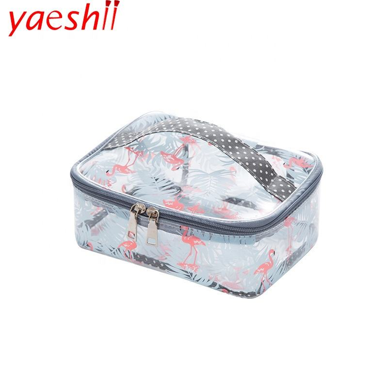 Yaeshii Custom Travel Toilettas Pvc Make Opbergtas Waterdichte Clear Transparante Cosmetische Tas