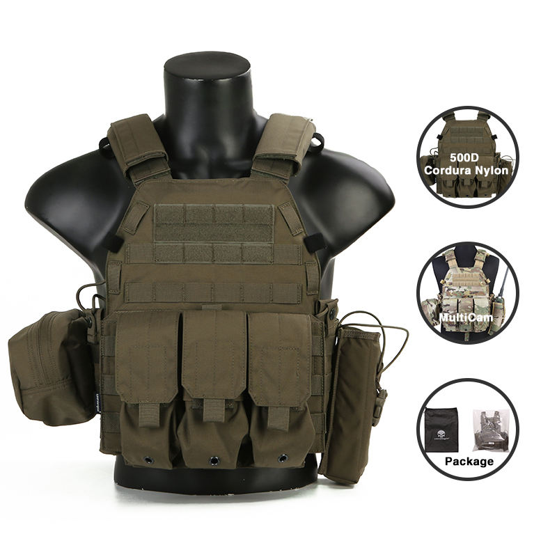Bulletproof Vest Emersongear Plate Carrier Combat Vest Military Tactical Custom Bullet Proof Vest Stab Bulletproof Vest For Sale