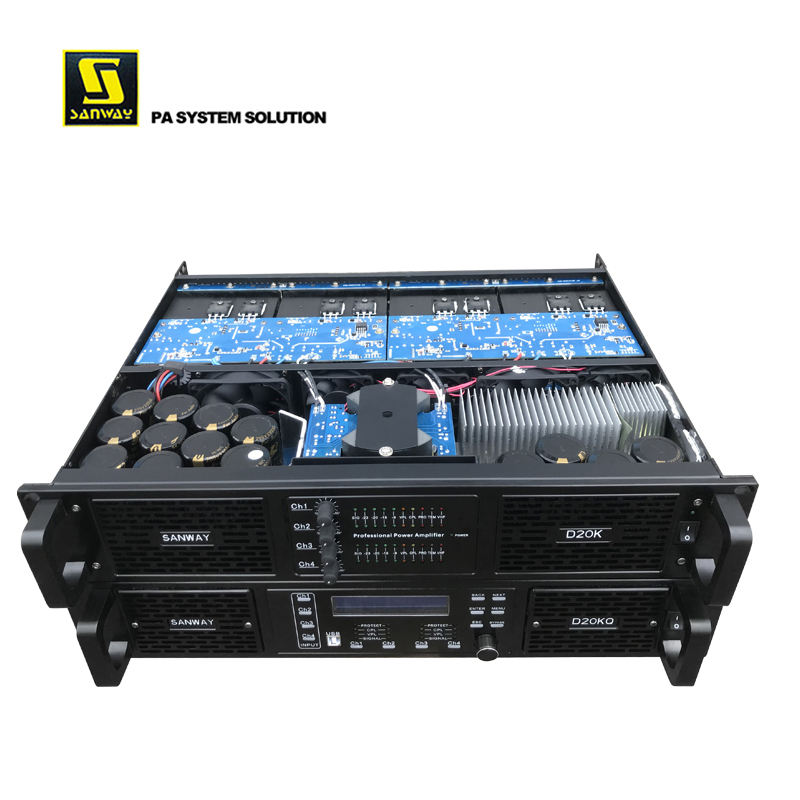 D20K 16000W Class D PA Dj Power Amplifier FP20000Q