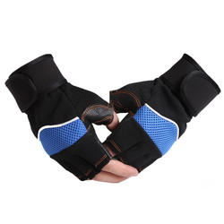 Fitness gloves men and women anti-cocoon training half-finger non-slip belt wrist sports gloves processing customization