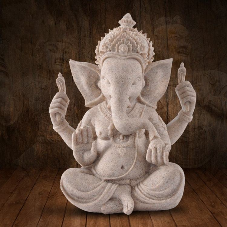 Life Size Garden Decoration Lord Ganesha Marble Statue