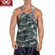 Custom stringer men camo tank top