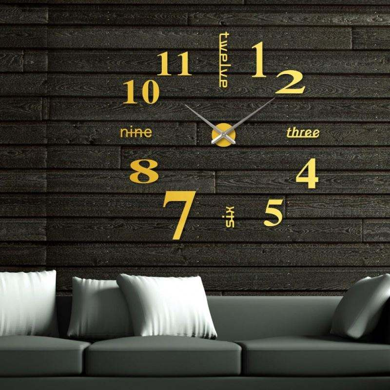 Fashion Home Decor 3D Big Size Wall Clock Mirror Sticker DIY Brief Living Room Decor EVA + ACRYLIC Meetting Room Wall Clock