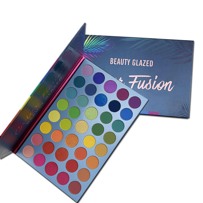 BEAUTY GLAZED Makeup 39 Color Eyeshadow Pallete Matte Shimmer Make up Rainbow palette Luminous Color Fusion Eye shadow palette
