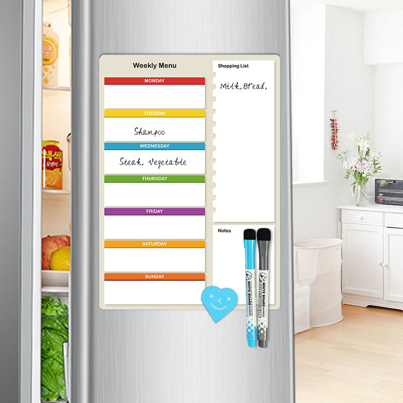 Magnetic Dry Erase Whiteboard Sheet Weekly Monthly Planner for Refrigerator Office