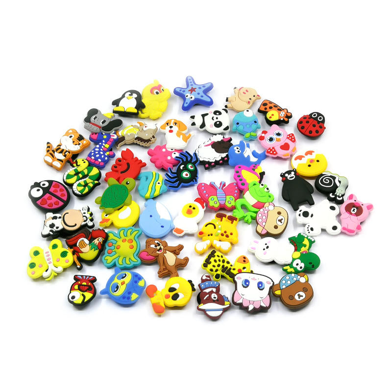 1000pcs+ Animals PVC Shoe Charms Bebes Accesorios for Cro c Shoes HYB011+013