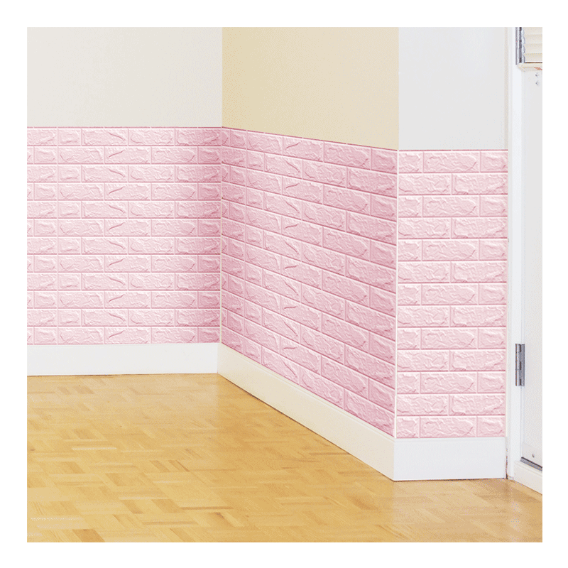 3D foam wallpaper self adhesive waterproof non toxic brick wall stickers art home white wall decor wallpaper panel