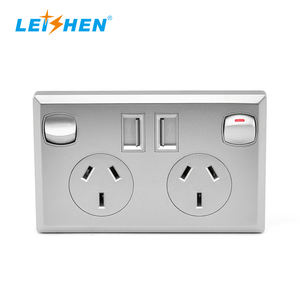Leishen Black Silver White Micro Usb Socket Electrical Socket Switches Smart Wall Socket Australian