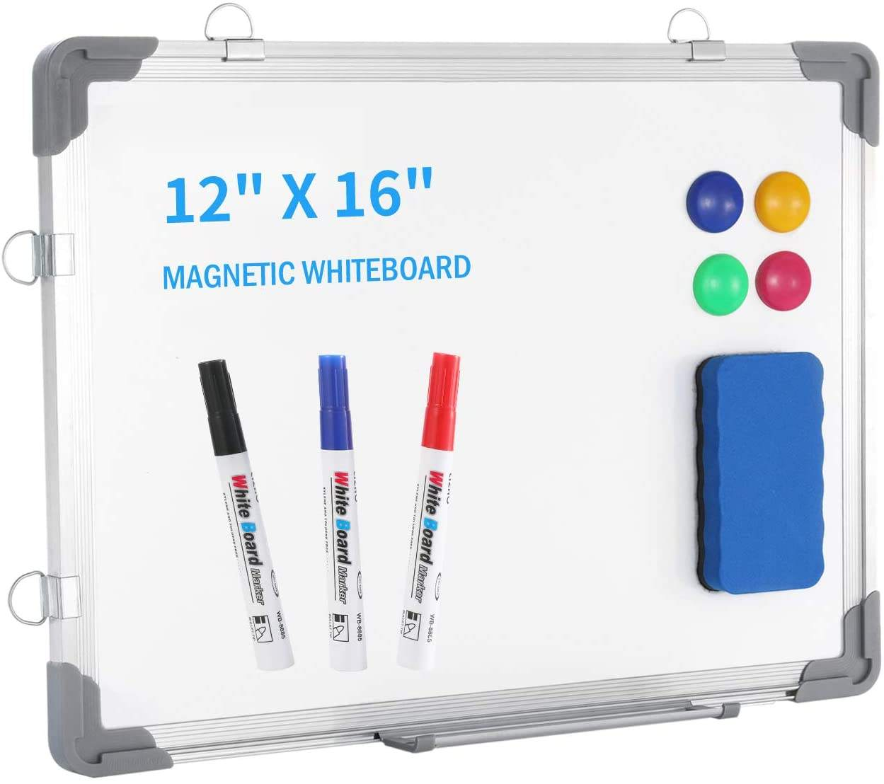 Desktop Portable Mini Small Dry Erase Board Wall Hanging Magnetic Double-Sided Whiteboard for Kids Drawing Planning Memo Board