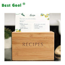 wooden  recipe Box organizer kitchen