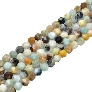 Factory Price Multi Color Amazonite Beads Stock Faceted Gemstones Natural Amazonite Stone