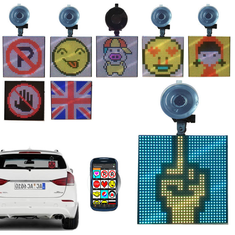 Emotions Smiley Faces Country Flags Road Warming Slogan Fun Icon Animations Suckers LED Screen Display Factory Direct sales