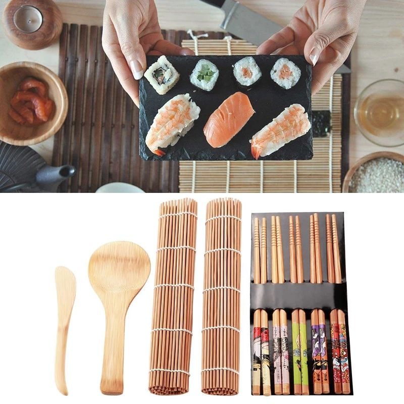 Food grade rolling case mat perfect bamboo sushi make kit set with FDA certificate