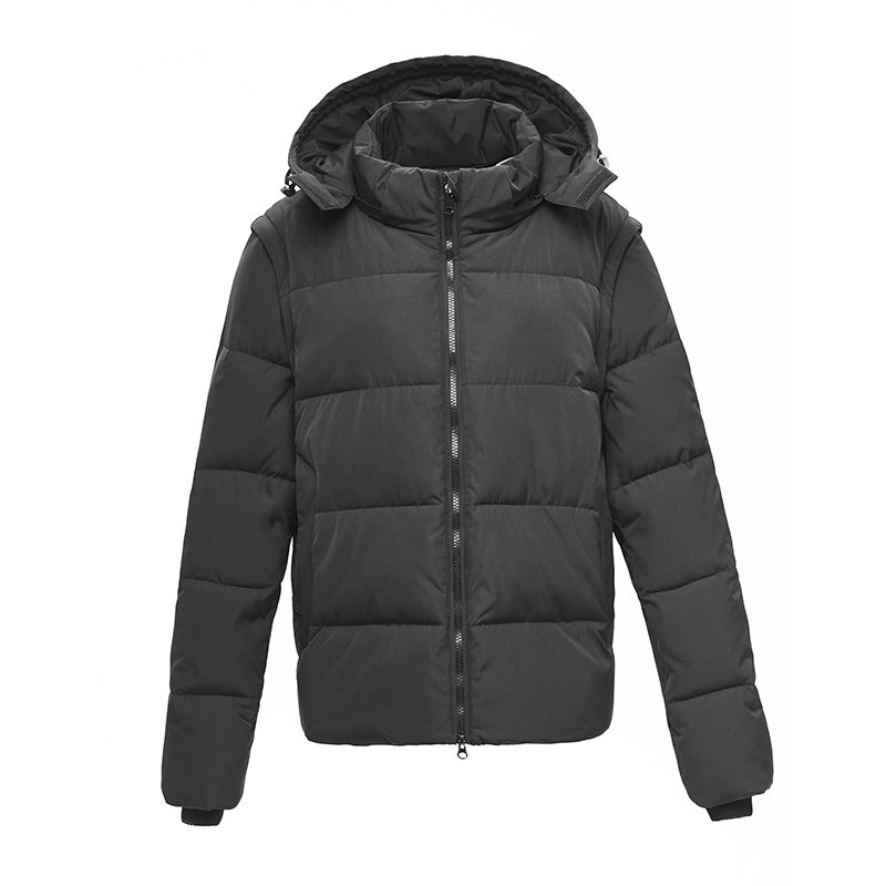 High quality black removable sleeve duck down jackets for men down coat