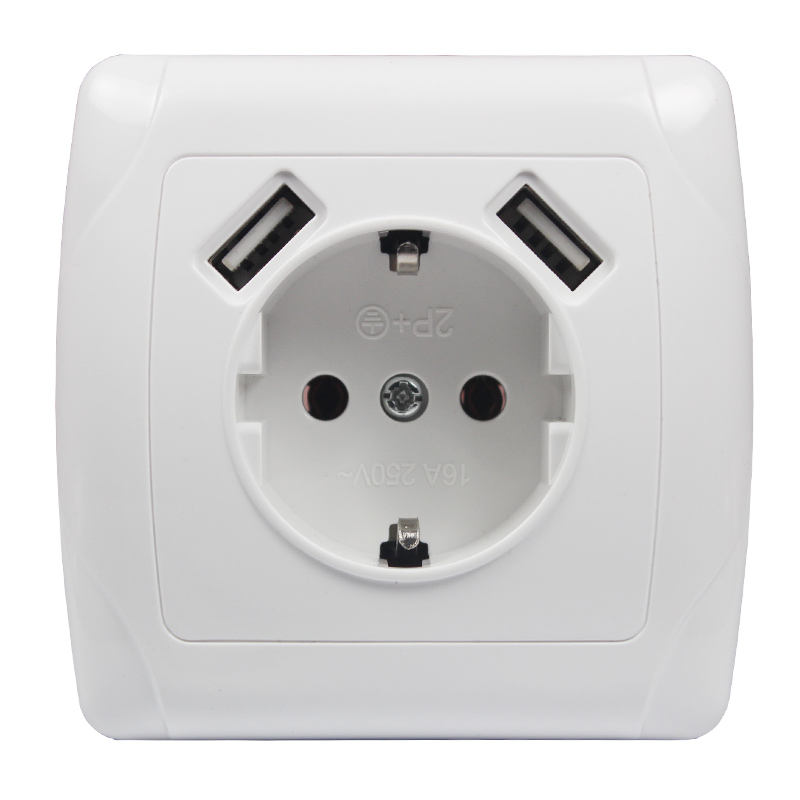 Europe Power Outlet Electric Usb Outlet socket Outlet/usb Wall Socket