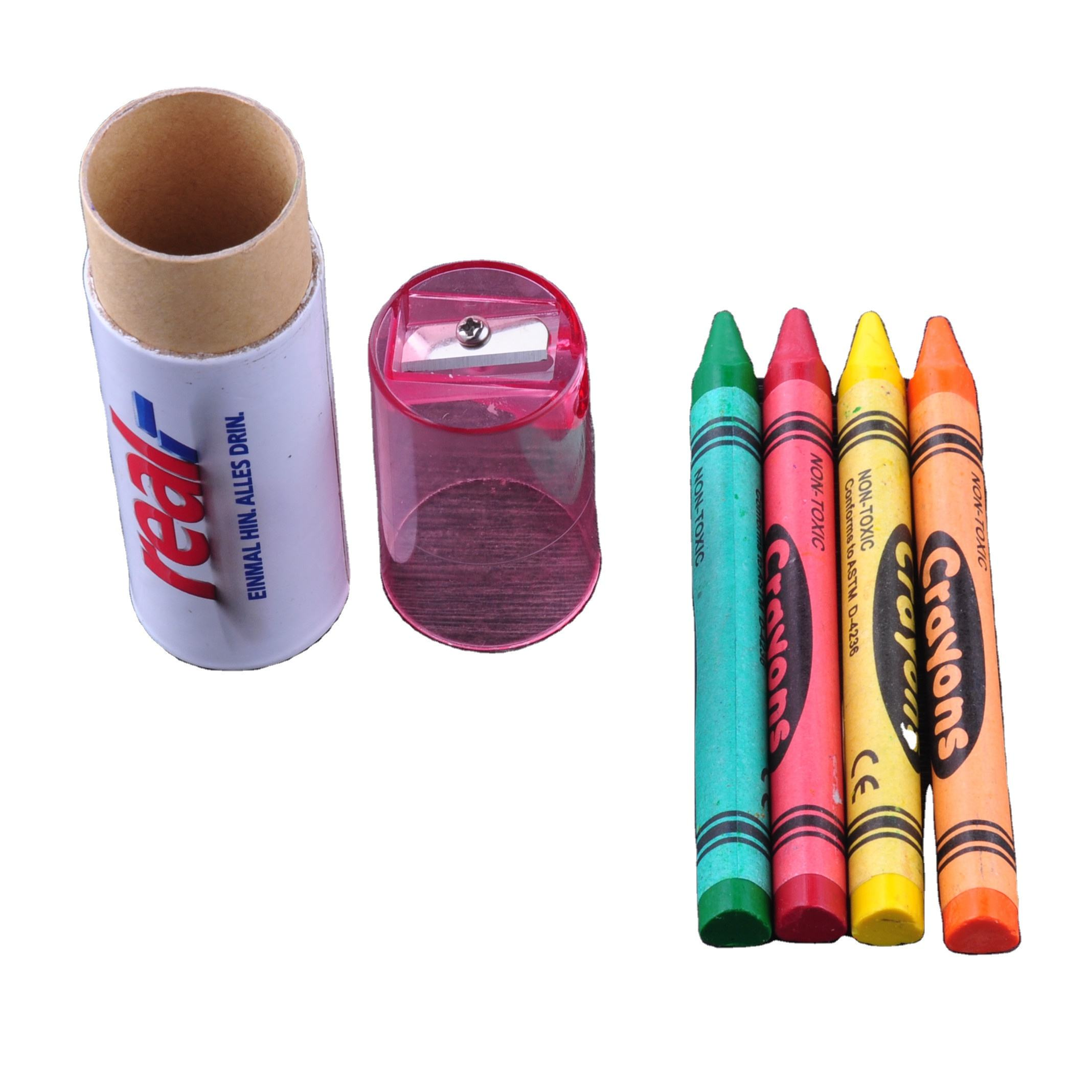 Set of Non-Toxic 4/6 Colors in Each Crayon Paper Tube With Custom Logo Best Quality Crayons for Drawing ,Color Filling