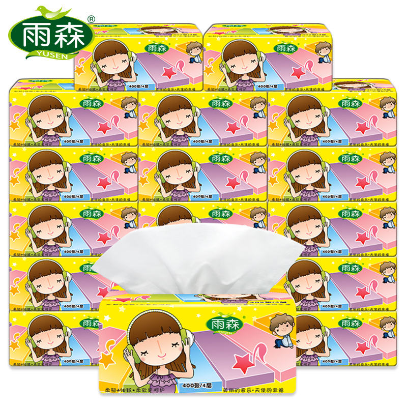 OEM Printed color soft tissue and virgin pulp hot selling facial tissue,4 ply