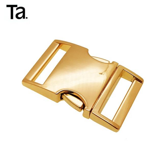 10x Sliding Center Bar Buckles Gold 15mm Metal Steel Leather Strap Craft Buckles