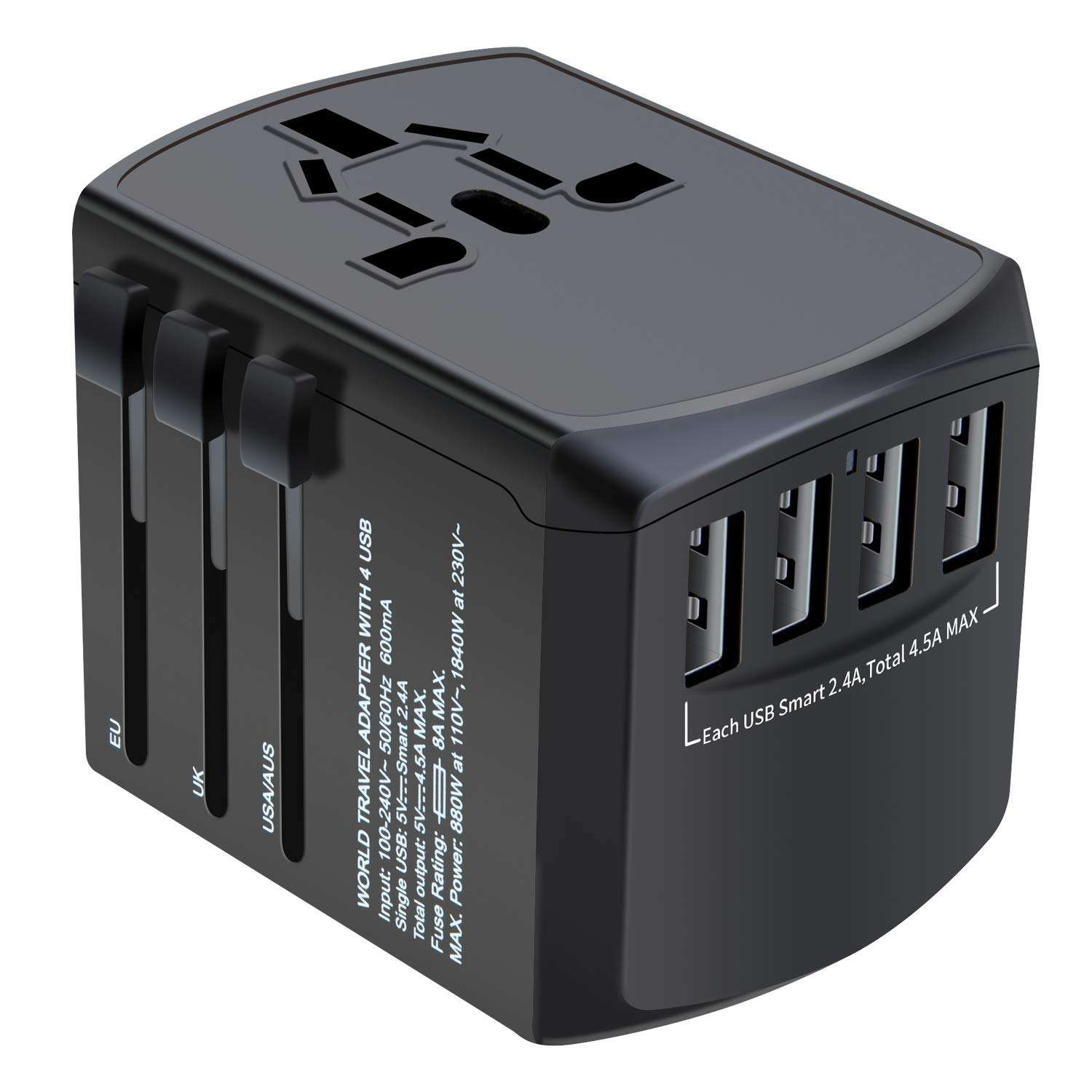 Electrical Plug Socket USB Charger Travel Adapter Multi Plug 100-240V Universal Adaptor