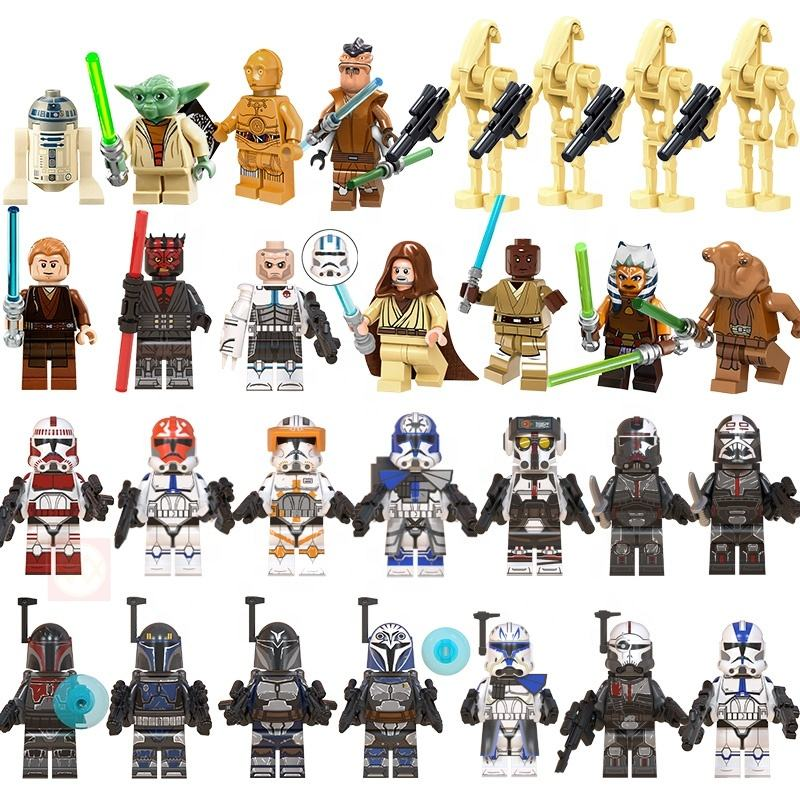 Clone wars season 7 Imperial Stormtrooper Jesse Rex Weapons 501st Legion Clone Storm Trooper Figures Building Block