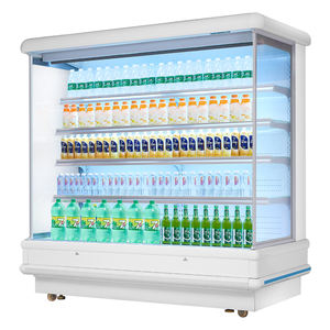 supermarket restaurant freezer vertical showcase fruit refrigerated cabinet