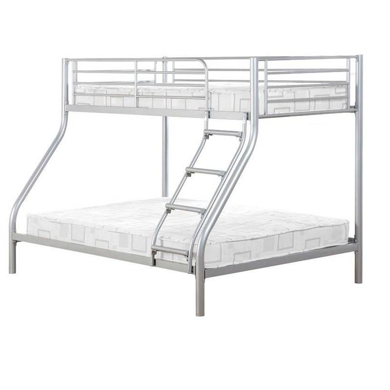 Purple kids triple bunk bed metal 3 person bunk bed for sale