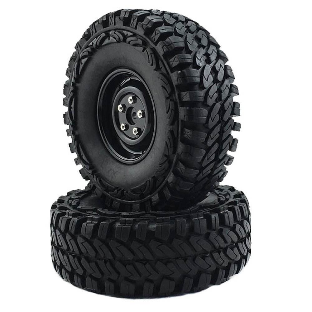 4PCS 1.9 inch 108mm wheel Rubber Tire for 1:10 RC Crawler SCX10 D90 TRX-4