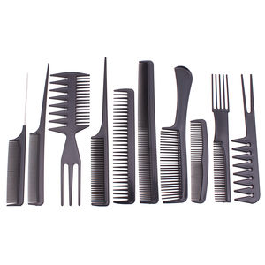 Black Straight Hair Comb Home & Salon Hair Styling Hairdressing Comb Set For Barber Professional Hair Cutting Comb C6706