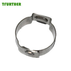 Free sample customized size Ear pipe hose clamp with interlock types