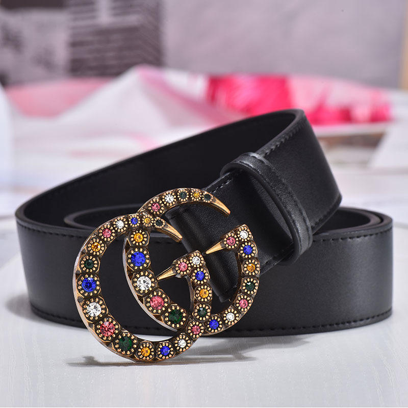 Chinber Wholesale Fashion Women Letter G 100% Leather Belt Strap