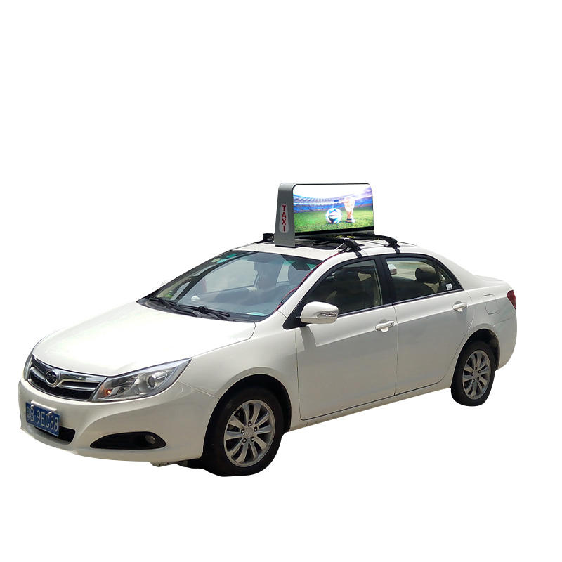 asynchronous WiFi 3G 4G Control cars taxi Topper LED Screen for advertising