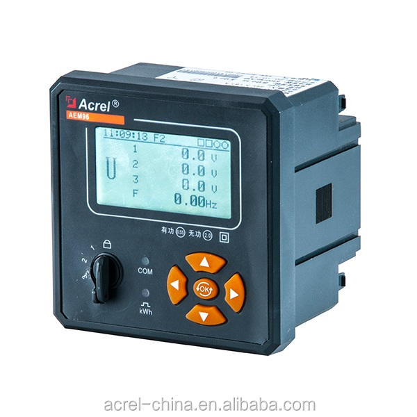 ACREL harmonics 31st 4 tariff data record energy quality analyzer AEM96 digital power meter & Record Daily KWH RS485 Modbus