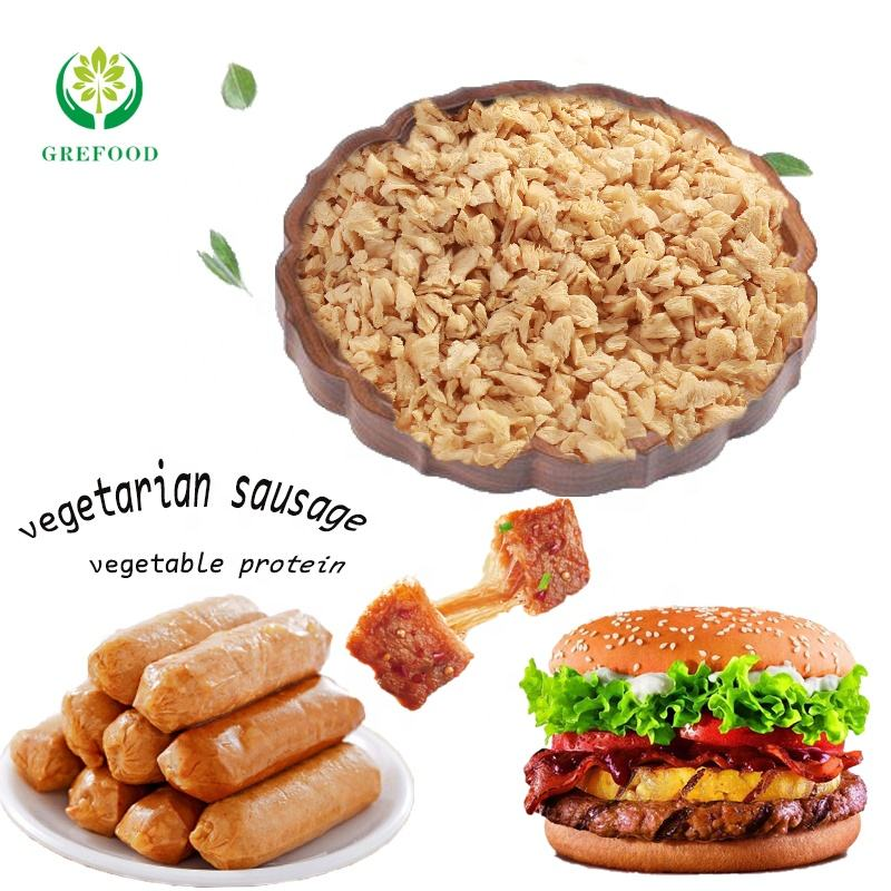 Grefood TVP organic plain soya mince Textured Soy Protein healthy meat substitute wholesale protein for spaghetti sauces TVP