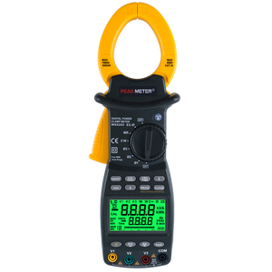 Peakmeter PM2203 power meter Clamp Three Phase Digital With T - RMS Measurement RS232 Certification Active Power, Power Factor