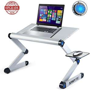 2019 Upgraded Sturdier Ultra-Large Adjustable Laptop Stand Foldable Aluminum Laptop Desk/Table for Bed/Sofa