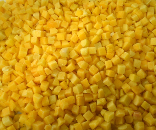 IQF Frozen Yellow Peach Cube Diced