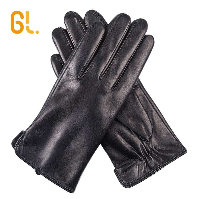 BW103-P Polyester Lining High Quality Ladies Fashion Genuine Winter Sheepskin Daily Leather Gloves for Women