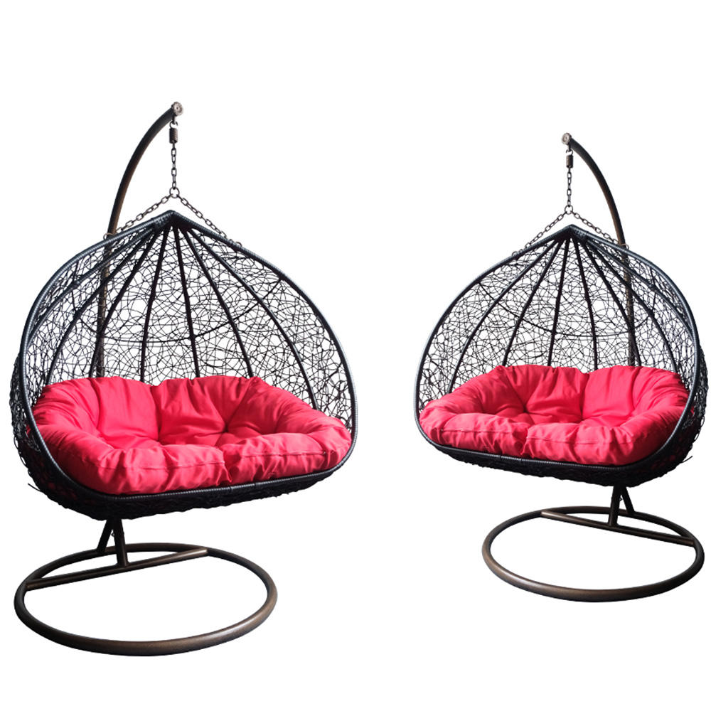 Rattern Swing For Adult Outdoor Wicker Chair Round Metal