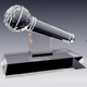 Crystal Microphone Trophy Award Souvenir Gift Trophy for Singing Contest