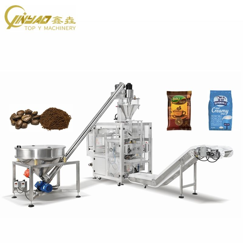 New small scale back seal packing cocoa milk coffee powder filling and sealing machine