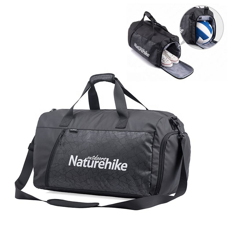 Naturehike waterproof outdoor weekend bag Travel Sports gym bag with shoe compartment