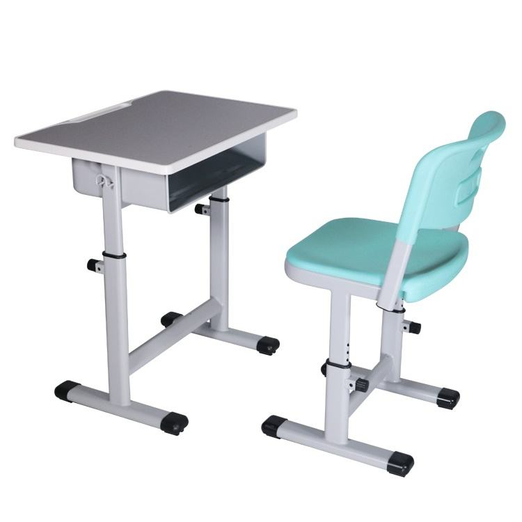 Manufacturer Good Quality Classrooom Student Adjustable Grey Table School Chair