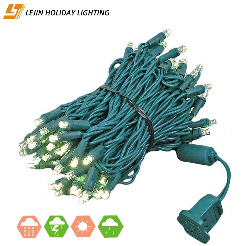 LJ string lights 10M 100 led for PVC wire fairy luces outdoor decoration