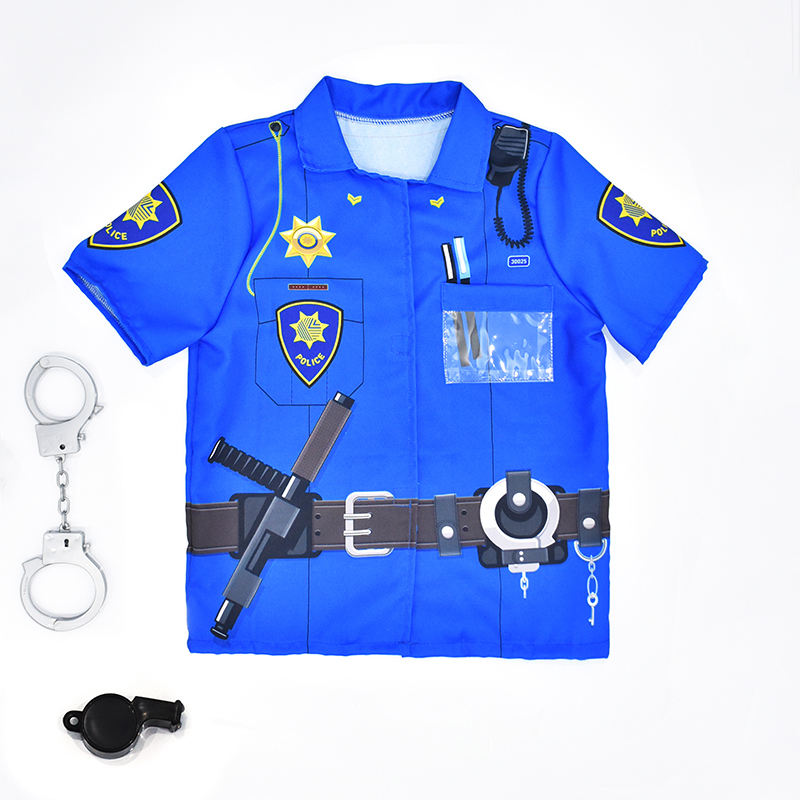 Halloween Carnival Party Police, Navy Cosplay Fancy Custom Boys Character For Kids Costume
