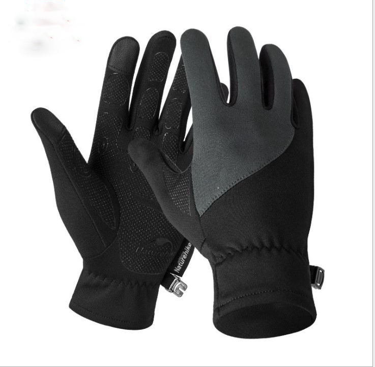 fashion touch screen winter warm gloves black custom logo long mittens leather hand gloves for women and men manufacturers