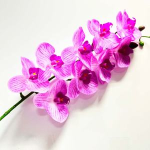 FC4010 Real touch PU blue wholesale artificial flower orchid